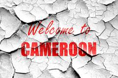 Stock Illustration of Grunge cracked Welcome to cameroon