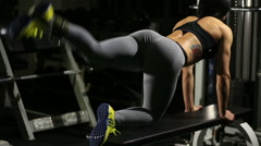 Stock Video Footage of fitness, sport, training and people concept - woman doing abdominal exercises in
