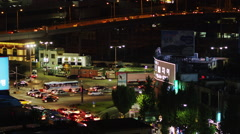 Night Traffic in Hoehyeon-dong District Stock Footage