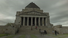 Moving time-lapse Shrine of Remembrance Melbourne - stock footage