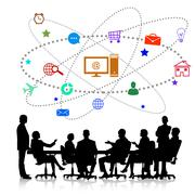 Business meeting Stock Illustration