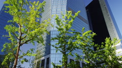 Modern Buildings in Yeouido Financial District Stock Footage