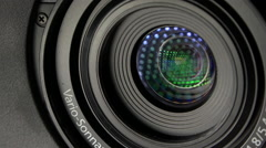Camera lens moving, zooming - close up shot, zoom in Stock Footage