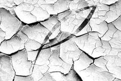 Grunge cracked Christian fish symbol Stock Illustration