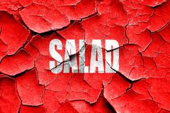 Stock Illustration of Grunge cracked Delicious salad sign