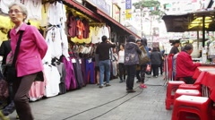 Clothing Vendors at Namdaemun Market Stock Footage