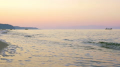 Sunset time on the coast Stock Footage