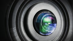 Camera lens zooming - video background - close up shot  - stock footage