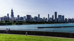 Sears Tower and Chicago skyline, Chicago, USA - stock footage