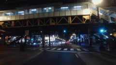 Night in Downtown Chicago - stock footage