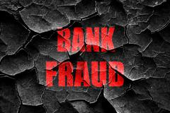 Grunge cracked Bank fraud background - stock illustration