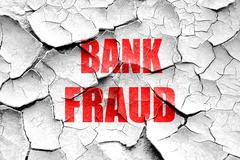 Grunge cracked Bank fraud background Stock Illustration