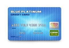 Blue Credit Card Stock Illustration