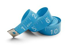 Blue Spiral Tape Measure Stock Photos