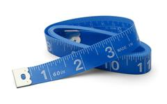 Blue Tape Measure Stock Photos