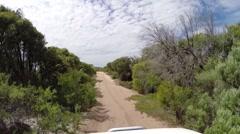 POV 4x4 driving through beautiful sandy bush Stock Footage