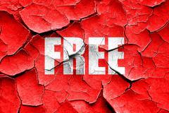 Grunge cracked free sign background - stock illustration