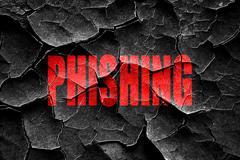 Grunge cracked Phising fraud background Stock Illustration