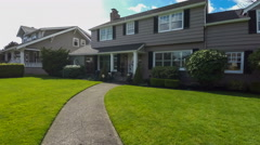 American suburban home approach Stock Footage