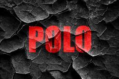 Stock Illustration of Grunge cracked polo sign background