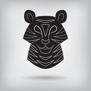 Stylized silhouette of a tiger. Stock Illustration