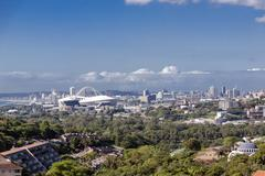 Stock Photo of View of suburban and city landscape Durban South Africa