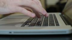 Laptop keyboard.Typing On A Laptop Keyboard,computer Literate Operator Stock Footage