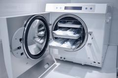 Machine for sterilizing medical equipment Stock Photos
