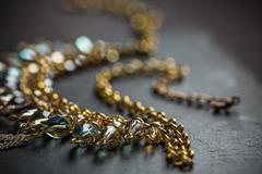 Necklace with stones Stock Photos