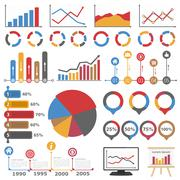 Graphs and Diagrams - stock illustration