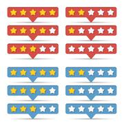 Rating Stars Stock Illustration