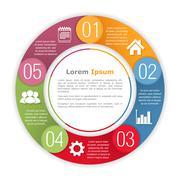 Circle Infographics Template - stock illustration
