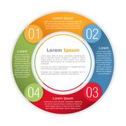 Circle Infographics Template Stock Illustration