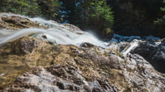 Waterfall in the Alps in Germany Stock Footage