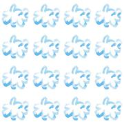 Watercolor clouds vector seamless pattern hand drawn Stock Illustration