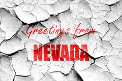 Stock Illustration of Grunge cracked Greetings from nevada