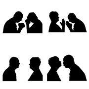 Vector silhouettes people. Piirros