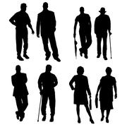 Vector silhouette of a people. Stock Illustration