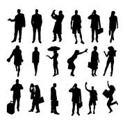 Vector silhouettes of business people. Stock Illustration