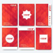 Stock Illustration of Modern vector templates for brochure, flyer, cover magazine or report in A4 size