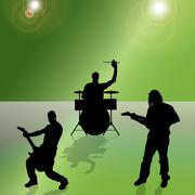 Vector silhouette of the band. Stock Illustration