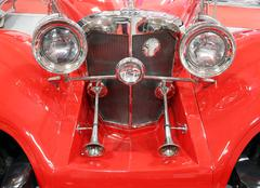 oldtimer car horns front view - stock photo