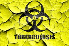 Grunge cracked Tuberculosis virus concept background Stock Illustration
