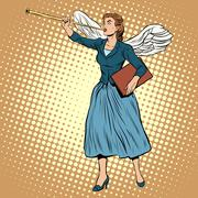 Goddess of victory Nike businesswoman concept Stock Illustration