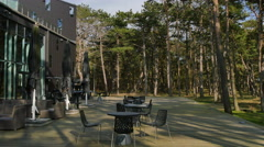 The beautiful eventhouse at  Falsterbo beach and the surroundings Stock Footage