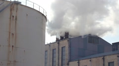 Smoke and steam from industrial plants - stock footage