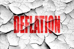Grunge cracked Deflation sign background Stock Illustration