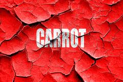 Grunge cracked Delicious carrot sign - stock illustration