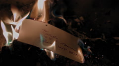 Letter Burning Stock Footage
