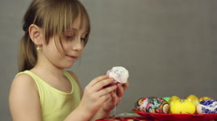 Preparation of Easter eggs, the feast of the passover Stock Footage